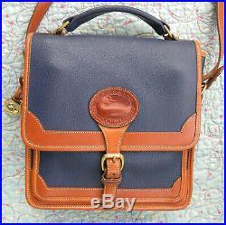Vintage Dooney and Bourke Surrey Top Handle Shoulder Bag Air Force Blue USA