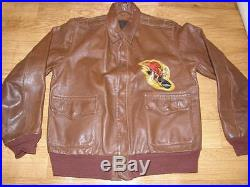 Vintage Leather Air Force Flight Jacket Type A-2 Made In U. S. A. Size 40