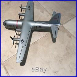 Vintage Lockheed U. S. Airforce C-130 Hercules 1950's Factory Desk Model Airplane