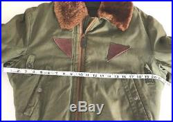 Vintage Military Green BOMBER Jacket 5A Type B size 38 FLYING Air Force ARMY