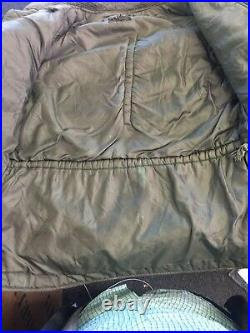 Vintage N3B SNORKEL PARKA Fur Hooded USAF Stencil Crown Zips Jacket USA Military