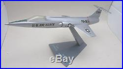 Vintage Precise or Topping Lockheed USAF F-104A Starfighter Aircraft Desk Model