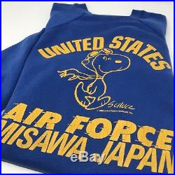 Vintage Snoopy US Air Force Sweater by Artex Blue Made In USA Peanuts Ltd Medium