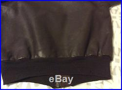 Vintage Type A-2 Leather Flight Jacket Air Force U. S. Army Bronco Mfg. Corp