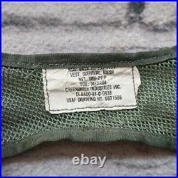 Vintage USAF US Air Force SRU-21/P Mesh Survival Vest w Camillus Pilot Knife