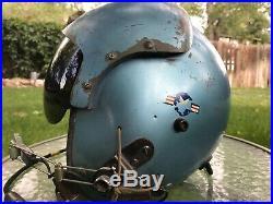 Vintage US Air Force Fighter Pilots Flight Helmet with Mic Headset