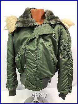 Vintage US Air Force N-2B Cold Weather Flight Jacket With Hood