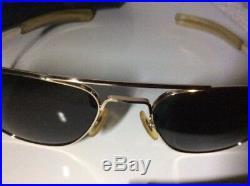 Vintage Vietnam Era AO American Optical USAF Pilot Sunglasses 1/10 12kt GF 5 1/2