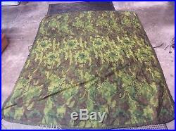 Vintage Vietnam Era Usmc Army Air Force Erdl Camo Poncho Liner Woobie Blanket