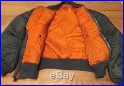 Vintage Vietnam War MA-1 USAF Air Force Flying Bomber Reversible Winter Jacket