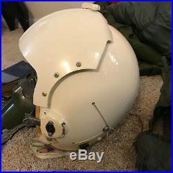 Vintage Vietnam War USAF Pilot's Flight Helmet HGU-2A/P & Gear / Equipment Lot