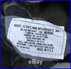 Vintage Vietnam War USAF U. S. Air Force MA-1 Reversible Camo Bomber Flight Jacket