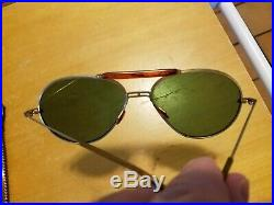 Vintage WW2 Era 1940s US Army Air Force US Navy USMC Pilots Aviator Sunglasses