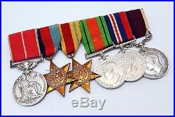 Vintage WW2 World War Two ROYAL AIR FORCE Named B. E. M 6 x Medal Group