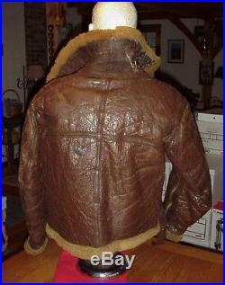 Vintage WWII RAF Royal Air Force Bomber Pilots Irvin Leather Flight Jacket Large
