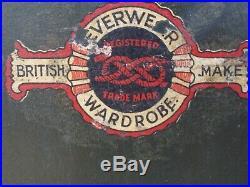 Vintage WWII USAF Air Force Veteran British Everwear Wardrobe Steamer Trunk