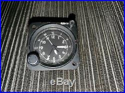 Vintage Wakmann 8-Day Aircraft Cockpit Chronograph Swiss Clock USAF ABU-9