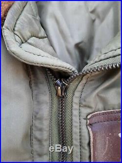 Vintage Ww2 Aaf B-15b Nylon Jacket Size 42 Original Us Air Force
