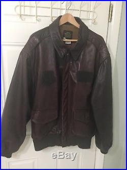 Vntg Avirex Ltd A2 Brown Bomber Air Force Aviator Goatskin Leather Jacket 52 USA