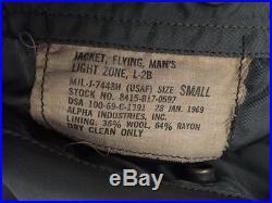 Vtg. 1969's Vietnam War Military USAF US Air Force Flying Bomber Winter Jacket