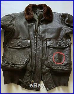 Vtg 60s Vietnam War USAF Army Flight Bomber G1 Leather Jacket Sz 38 Made in USA