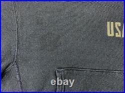 Vtg 70s champion reverse weave hoodie sweatshirt S military USAFA Air Force