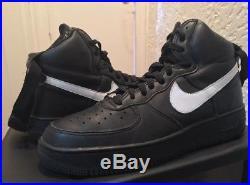 Vtg Nike Air Force 1 Hi'02 Black White 10 Og Nyc Vlone Supreme Bape Jordan Rare