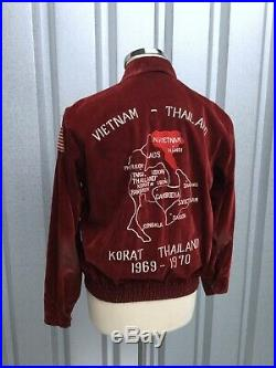 Vtg Sukajan 1960's Original Souvenir Jacket Vietnam Vtg USAF Tour Jacket Korat
