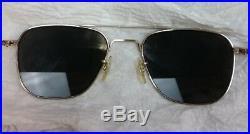 Vtg USAF American Optical Men's Sunglasses Aviators Pilot Vietnam 5 1/2 12K GF