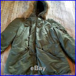 Vtg WW2 US Army Air Force A11 Flight Jacket Insulated Parka Bomber Pilot Hooded