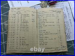 WW2 Medal Group & Log Book Flying Officer Holland 201 & 240 Squadrons RAF