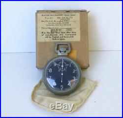 WW2 Military US Air Force Navigation Timer Stop Watch Type A-8 NOS in Box