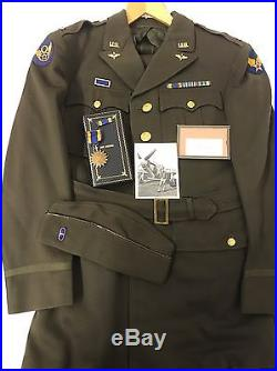 WW2 Named Fighter Pilots Uniform Grouping 8th Air force, Photo of Vet, Air Medal