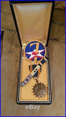 WW2 PTO B-25 Combat Navigator Army Air Force Air Medal & Docs 41st Bomb Group
