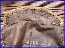 WW2 RAF Leather Irvin Flying Jacket