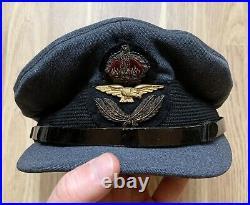 WW2 RAF Royal Air Force Officers Visor Cap x 100% Original