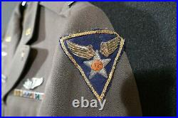 WW2 USAAF 12th Army Air Forces Pilot Uniform & Pink Pants Bullion Patch Named