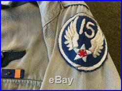 WW2 USAAF TSgt 15th Air Force Theater Modified Khaki Uniform Group Complete