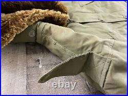 WW2 USAF B-11 Fur Lined Flight Jacket / Parka With Matching A-8 Overalls