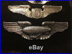 WW2 US Army Air Force Airship Pilot Wings by Pasquali Co