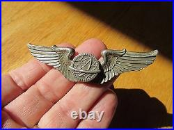 WW2 US Army Air Force Navigator wing pin back Sterling 3 inch USAAF