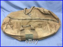 WW2 US Army Air Forces Canvas Aviator Kit Flight Bag Helmet 06fe4f99a2fbb