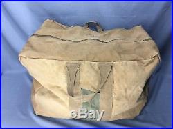 WW2 US Army Air Forces Canvas Aviator Kit Flight Bag Helmet
