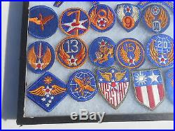 WW2 US Army Air Forces Patch Collection 35 Patches CBI Headquarter 8th Air Force