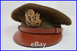 WW2 US Army military uniform dress jacket visor cap hat Officer Air Force Corp