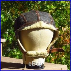 WW2 U. S. Army Air Forces Type B-6 Flight Helmet Sheepskin Shearling