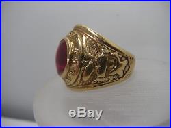 WW2 Vintage US Army Air Forces Pilot 10K Gold Ring Size 11