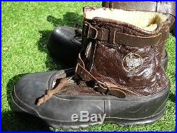 WWII 1940's TYPE A-6A US ARMY AIR FORCE PILOTS BRISTOLITE FLYING BOOTS & LINERS
