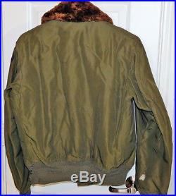WWII 1944 US ARMY Air Force B-15 FITZWELL Sportwear Pilot Flight Jacket Coat