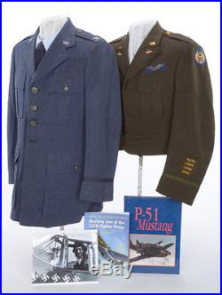 WWII 8th Air Force Pilot's Lined Officer's Ike Jacket Attributed to P-51B Ace